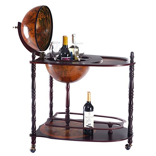 Goplus-Wood-Globe-Wine-Bar-Stand-16th-Century-Italian-Rack-Liquor-Bottle-Shelf-New-0-0
