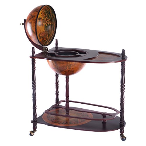 Goplus-Wood-Globe-Wine-Bar-Stand-16th-Century-Italian-Rack-Liquor-Bottle-Shelf-New-0