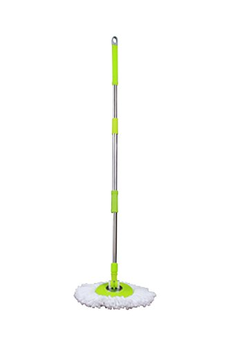 Green-Direct-Spin-Mop-System-Deluxe-Bucket-Cleaning-System-Microfiber-Replacement-Head-Twist-Spinning-Wringer-Easy-Rolling-Cleaning-0-0