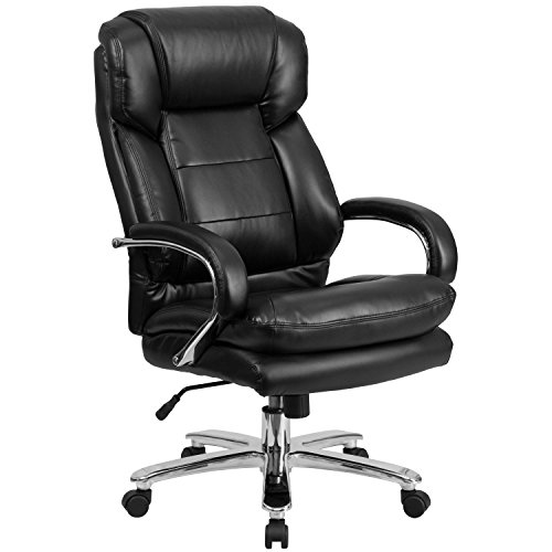 HERCULES-Series-247-Intensive-Use-Multi-Shift-Big-Tall-500-lb-Capacity-Black-Leather-Executive-Swivel-Chair-with-Loop-Arms-0