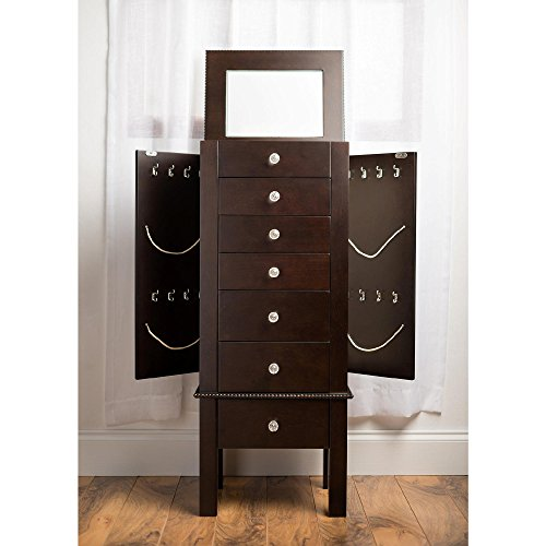 HIVES-HONEY-Crystal-Jewelry-Armoire-with-Mirror-Espresso-0-1