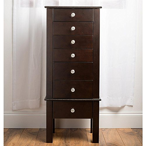 HIVES-HONEY-Crystal-Jewelry-Armoire-with-Mirror-Espresso-0