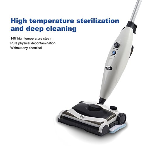 Hausbell-MW8100-All-in-One-Sweeper-and-Steam-Mop-for-Floor-and-Carpet-Pet-Hair-Eraser-with-2-Mop-Pads-0-0