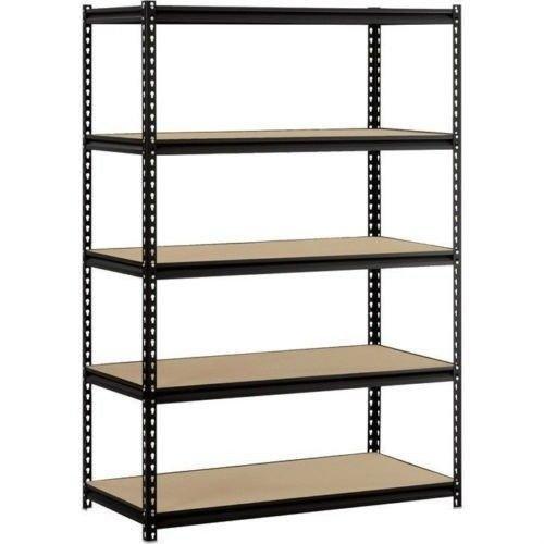 Heavy-Duty-Garage-Shelf-Steel-Metal-Storage-5-Level-Adjustable-Shelves-Unit-72-H-x-48-W-x-24-Deep-0