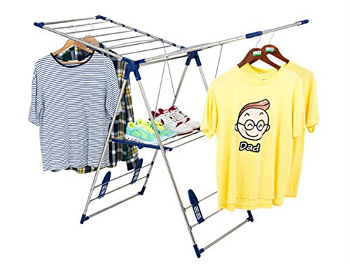 Heavy-Duty-Stainless-Steel-Gullwing-Clothes-Drying-Rack-0-0