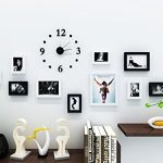 Hello-Artwork-Black-Solid-Wood-Wall-Frame-set-Photo-Wall-Clock-Decal-and-Picture-Frames-Kit-for-Home-Decoration-0