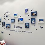 Hello-Artwork-Fashion-Wooden-Photo-Picture-Frame-Wall-Collage-Set-of-10-Modern-with-Wall-Clock-Decal-0-0
