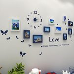 Hello-Artwork-Fashion-Wooden-Photo-Picture-Frame-Wall-Collage-Set-of-10-Modern-with-Wall-Clock-Decal-0-1