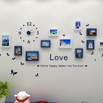 Hello-Artwork-Fashion-Wooden-Photo-Picture-Frame-Wall-Collage-Set-of-10-Modern-with-Wall-Clock-Decal-0