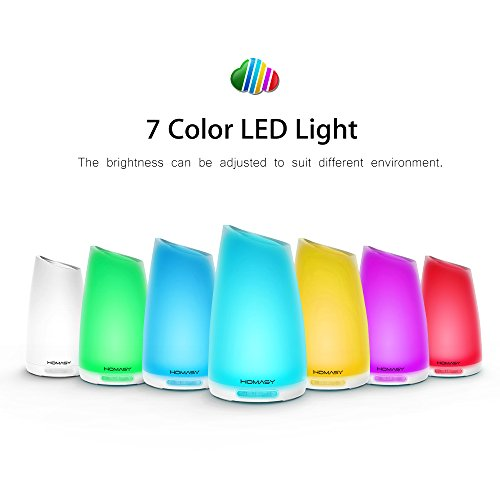 Homasy-100ml-Essential-Oil-Diffuser-Humidifier-Aromatherapy-Diffuser-with-7-Color-Lights4-6-Hours-Working-Time-for-Home-Office-Bedroom-Yoga-Room-0-0