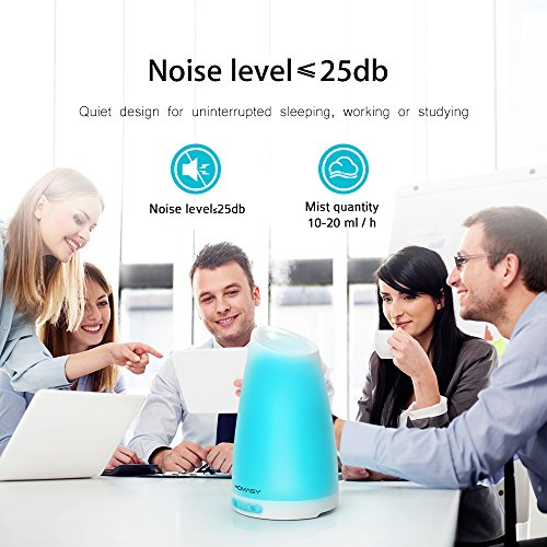 Homasy-100ml-Essential-Oil-Diffuser-Humidifier-Aromatherapy-Diffuser-with-7-Color-Lights4-6-Hours-Working-Time-for-Home-Office-Bedroom-Yoga-Room-0-1