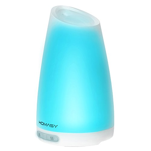 Homasy-100ml-Essential-Oil-Diffuser-Humidifier-Aromatherapy-Diffuser-with-7-Color-Lights4-6-Hours-Working-Time-for-Home-Office-Bedroom-Yoga-Room-0