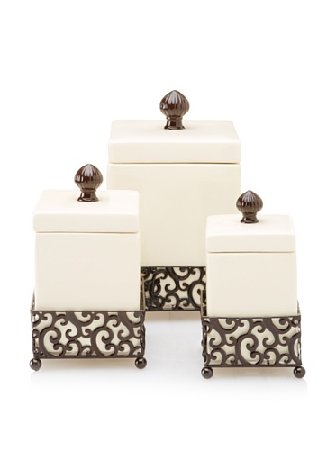 Home-Essentials-69461-Pressed-Metal-Danbury-Square-Canister-Set-of-3-0