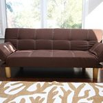 Home-Life-Anderson-Futon-Sofa-Bed-with-Adjustable-Arm-Rests-Brown-Linen-0-0