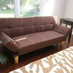 Home-Life-Anderson-Futon-Sofa-Bed-with-Adjustable-Arm-Rests-Brown-Linen-0