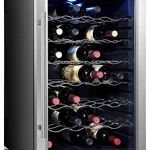 Home-Life-furfridgecw80ad2FBA-Thermoelectric-Stainless-Steel-LED-28-Bottle-Wine-Cooler-29-x-20-x-18-Black-0