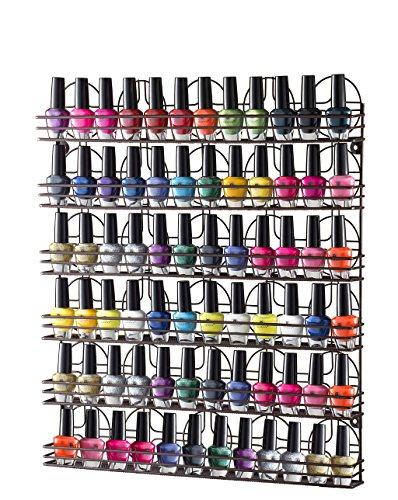 Home-it-Nail-Polish-Rack-Nail-Polish-Organizer-Holds-up-to-102-Bottles-Metal-Frame-Unbreakable-Color-Bronze-0-0