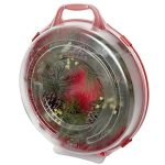 Homz-Holiday-Wreath-Plastic-Storage-Box-Up-to-24-Red-With-Clear-Lid-6-Pack-0-0