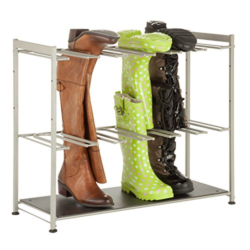 Honey-Can-Do-SHO-02812-Steel-Frame-6-Pair-Boot-Rack-Organizer-0
