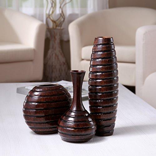 Hosleys-Set-of-3-Wood-Vases-0-1