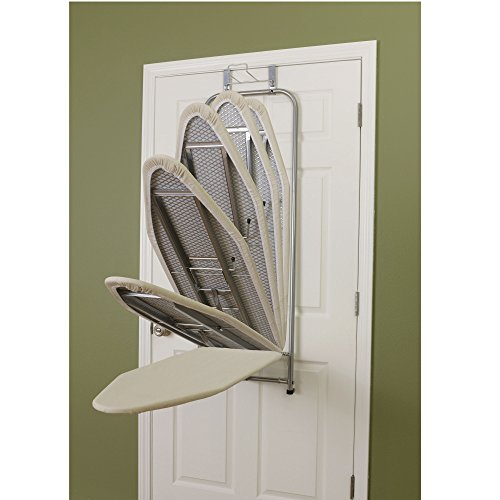 Household-Essentials-144222-1-Over-The-Door-Ironing-Board-with-Iron-Holder-Natural-Cotton-Cover-0-1