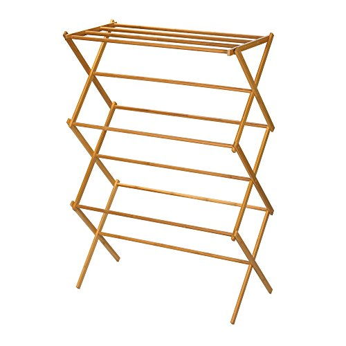 Household-Essentials-6524-Tall-Indoor-Folding-Wooden-Clothes-Drying-Rack-Dry-Laundry-and-Hang-Clothes-Made-of-Bamboo-0