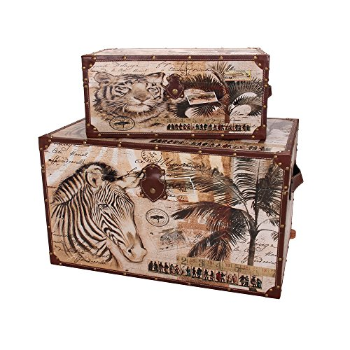 Household-Essentials-Animal-Kingdom-Storage-Trunks-Set-of-2-0