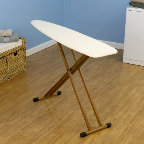 Household-Essentials-Ironing-Board-with-Bamboo-Legs-and-Natural-Cover-0-0