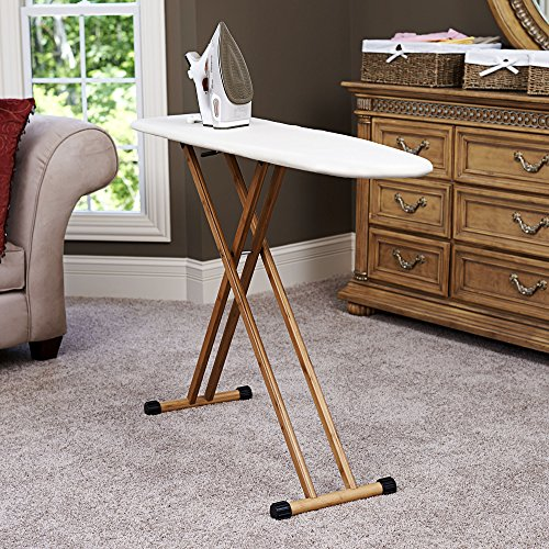 Household-Essentials-Ironing-Board-with-Bamboo-Legs-and-Natural-Cover-0-1