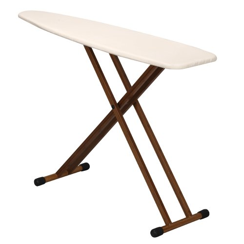 Household-Essentials-Ironing-Board-with-Bamboo-Legs-and-Natural-Cover-0