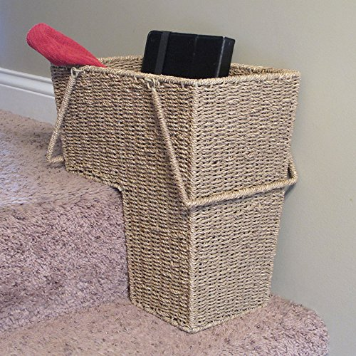 Household-Essentials-Seagrass-Stair-Basket-with-Handle-0-1
