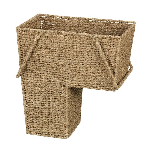 Household-Essentials-Seagrass-Stair-Basket-with-Handle-0