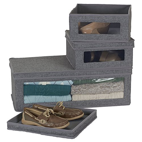 Household-Essentials-Three-Piece-Vision-Storage-Boxes-Natural-Canvas-with-Brown-Trim-0-1