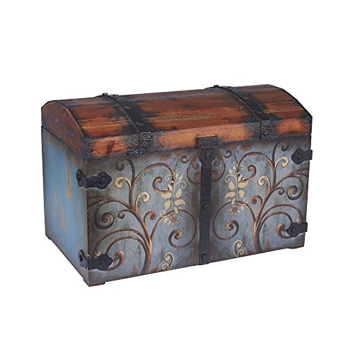 Household-Essentials-Vintage-Wood-Storage-Trunk-0