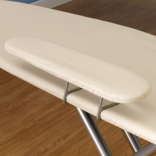 Household-Essentials-Wide-Top-4-Leg-Mega-Pressing-Station-Ironing-Board-with-Natural-Cotton-Cover-0-1
