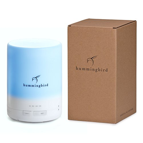 Hummingbird–300ml-Essential-Oil-Diffuser-8-Hours-Cold-Mist-7-Color-LED-4-Mode-Timer-FREE-Quick-Disconnect-Cable-Aromatherapy-Ultrasonic-Air-Humidifier-w-Auto-Shutoff-0