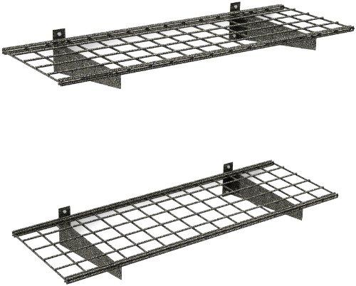 HyLoft-00651-45-Inch-by-15-Inch-Wall-Shelf-Hammertone-2-Pack-0