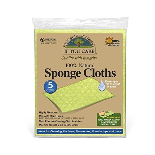 IF-YOU-CARE-100-Natural-Sponge-Cloths-5-Count-0