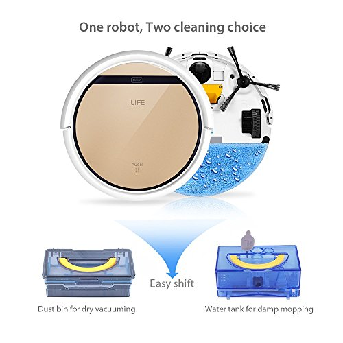 ILIFE-V5s-Robot-Vacuum-Cleaner-with-Water-Tank-MoppingGold-0-1