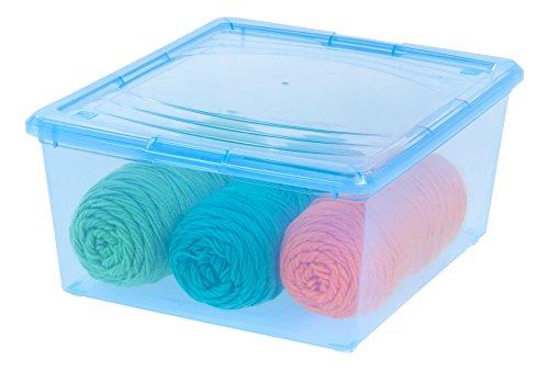 IRIS-21-Quart-Modular-Storage-Box-14-Pack-Clear-0-1