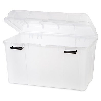 IRIS-USA-138-qt-Hinged-Lid-Storage-Trunk-in-Clear-Set-of-3-0-0