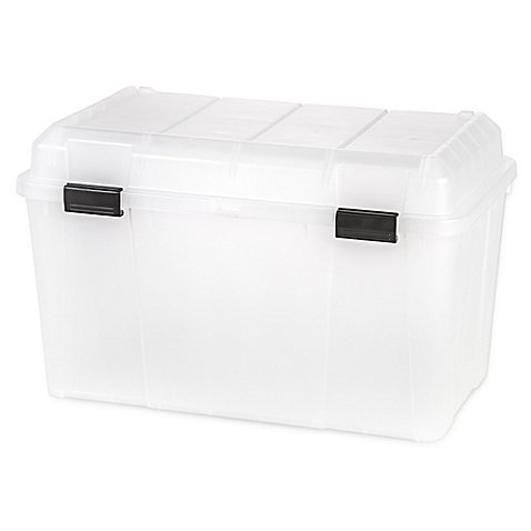 IRIS-USA-138-qt-Hinged-Lid-Storage-Trunk-in-Clear-Set-of-3-0