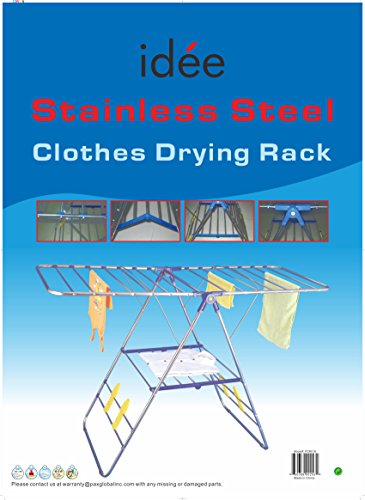 Idee-PDR01E-Rust-proof-Stainless-Steel-Collapsible-Laundry-Drying-Rack-58x24x40-Inches-0