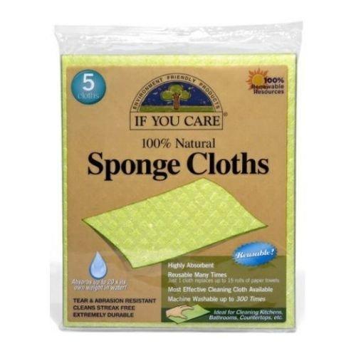If-You-Care-100-Percent-Natural-Sponge-Cloth-5-per-pack-12-packs-per-case-0