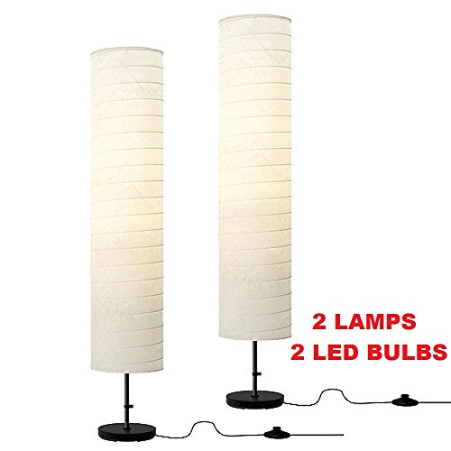 Ikea-Holmo-Floor-Lamp-With-Paper-Shade-0