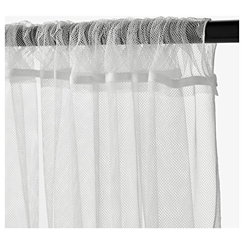 Ikea-Lill-Sheer-Curtains-2-Panels-98-X-110-White-New-0-0