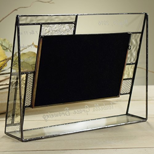 J-Devlin-Pic-392-46H-EP530-Baby-Personalized-4×6-Glass-Picture-Frame-Pale-Yellow-and-Grey-Horizontal-Landscape-Photo-Frame-3-Engraving-Areas-0-1
