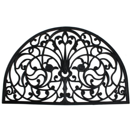 J-M-Home-Fashions-Wrought-Iron-Half-Round-Natural-Rubber-Doormat-24-Inch-by-36-Inch-0