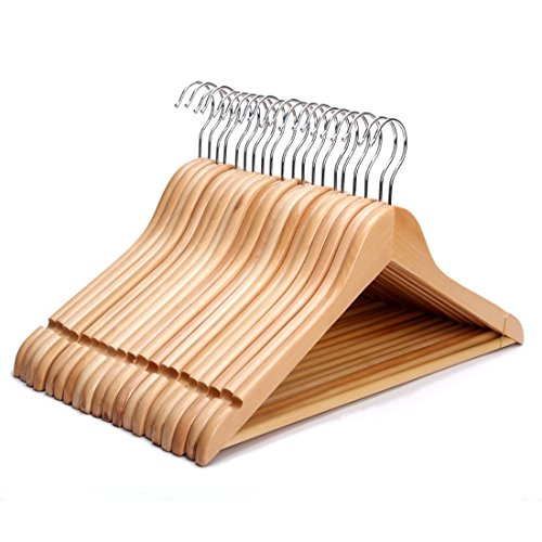JS-Hanger-Solid-Wooden-Suit-Hangers-Natural-Finish-with-Anti-rust-Hooks-and-Non-slip-Bar-20-Pack-0