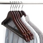 JS-Hanger-Solid-Wooden-Suit-Hangers-Walnut-Finish-with-Polished-Chrome-Hooks-20-Pack-0-1